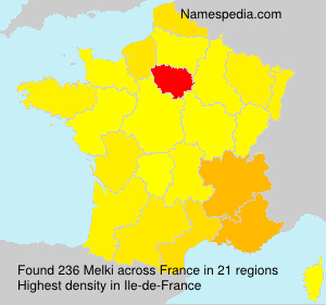 Surname Melki in France