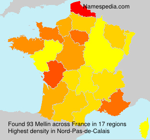Surname Mellin in France