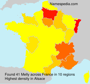 Surname Melly in France
