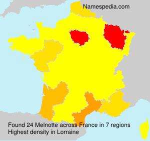 Familiennamen Melnotte - France
