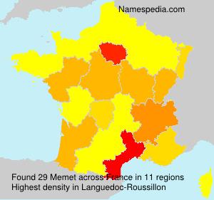 Surname Memet in France