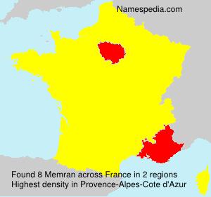 Surname Memran in France
