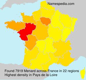 Surname Menard in France
