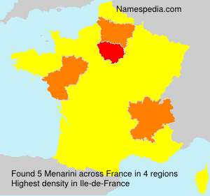 Surname Menarini in France