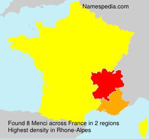Surname Menci in France