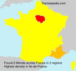 Surname Menda in France