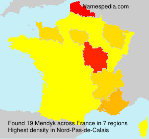 Surname Mendyk in France
