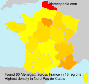 Surname Menegatti in France
