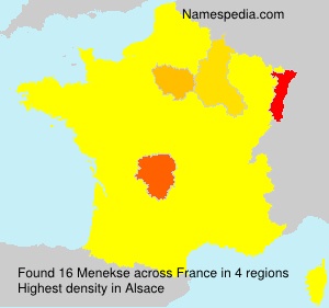 Surname Menekse in France