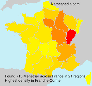 Surname Menetrier in France