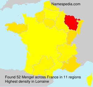Surname Mengel in France