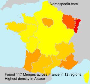 Familiennamen Menges - France
