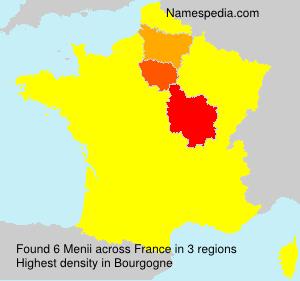 Surname Menii in France
