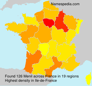 Surname Menil in France