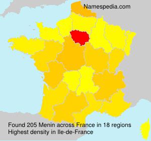 Surname Menin in France