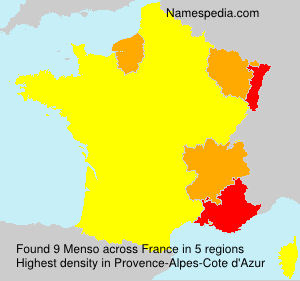 Familiennamen Menso - France