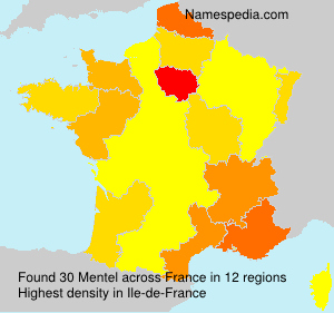 Surname Mentel in France