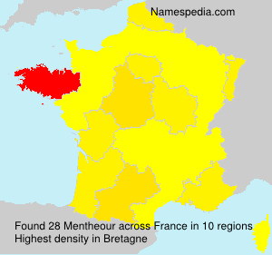 Surname Mentheour in France