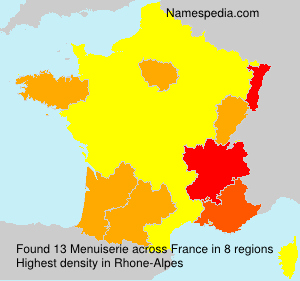 Surname Menuiserie in France