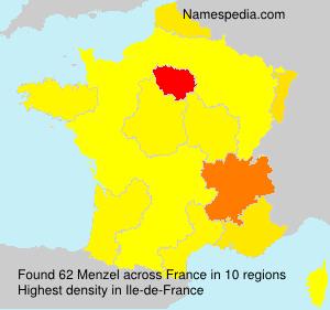 Surname Menzel in France
