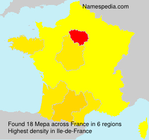Surname Mepa in France