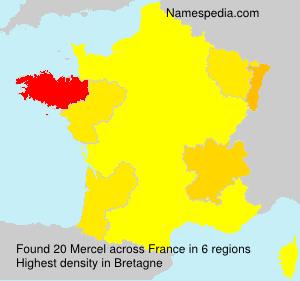 Surname Mercel in France