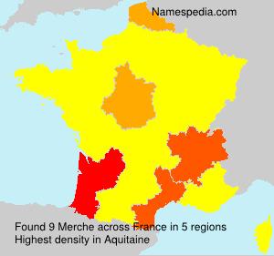 Familiennamen Merche - France
