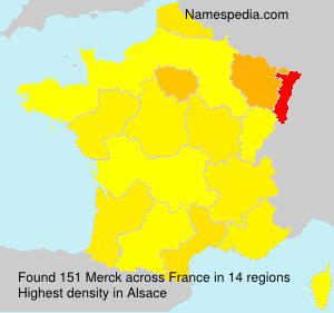 Surname Merck in France