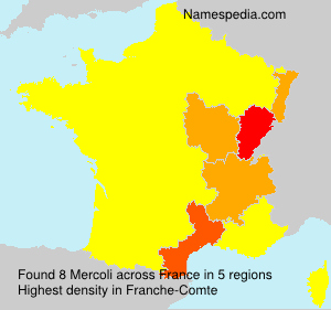 Surname Mercoli in France
