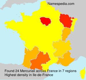 Surname Mercuriali in France