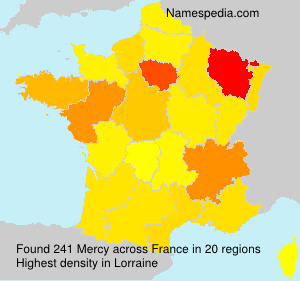 Surname Mercy in France