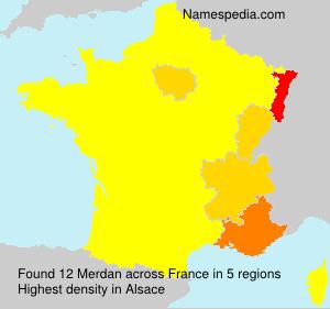 Surname Merdan in France