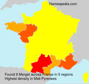 Surname Merget in France