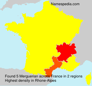 Surname Merguerian in France