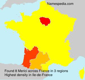 Surname Merici in France