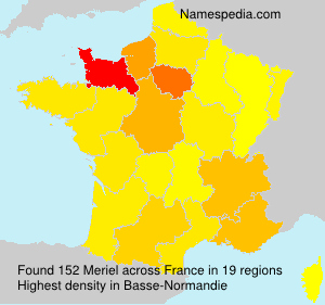 Surname Meriel in France