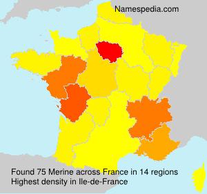 Surname Merine in France