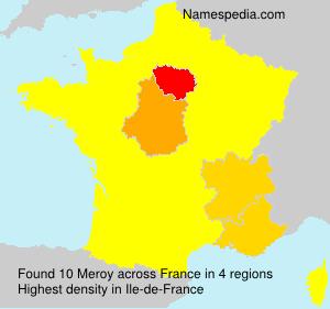 Familiennamen Meroy - France
