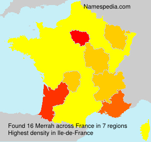 Surname Merrah in France