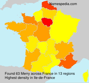 Surname Merry in France