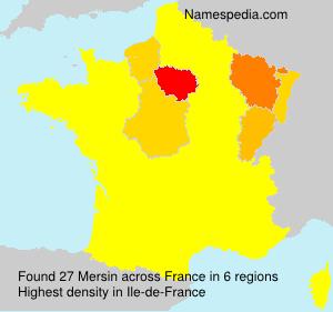 Surname Mersin in France