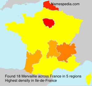 Familiennamen Mervaillie - France