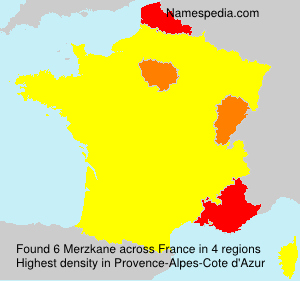 Surname Merzkane in France