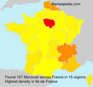 Surname Merzouki in France
