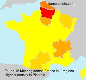 Surname Mesdag in France