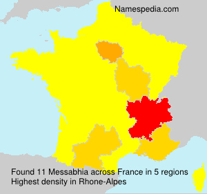 Surname Messabhia in France