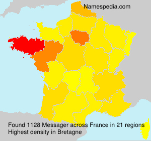 Surname Messager in France