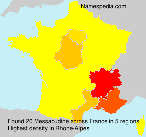 Surname Messaoudine in France