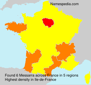 Surname Messarra in France