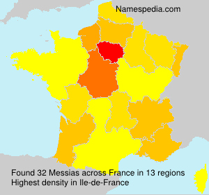 Surname Messias in France
